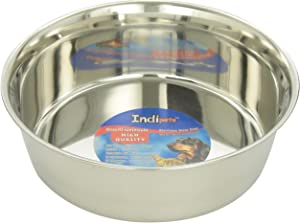 Indipets Heavy Duty Stainless Steel Dog Bowl - High Gloss, Easy to Clean Finish