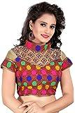 Women Ethnic Women's Cotton Blouse(2004.Multi_multicoloured_Free Size)