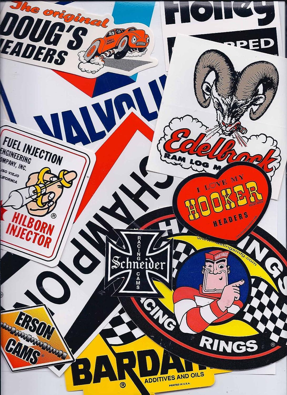 Amazon com grab bag of 11 nostalgia vintage style racing decals automotive