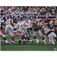 """$103 » Eli Manning New York Giants Autographed 8"""" x 10"""" Super Bowl XLII Escape Photograph - Autographed NFL Photos"""