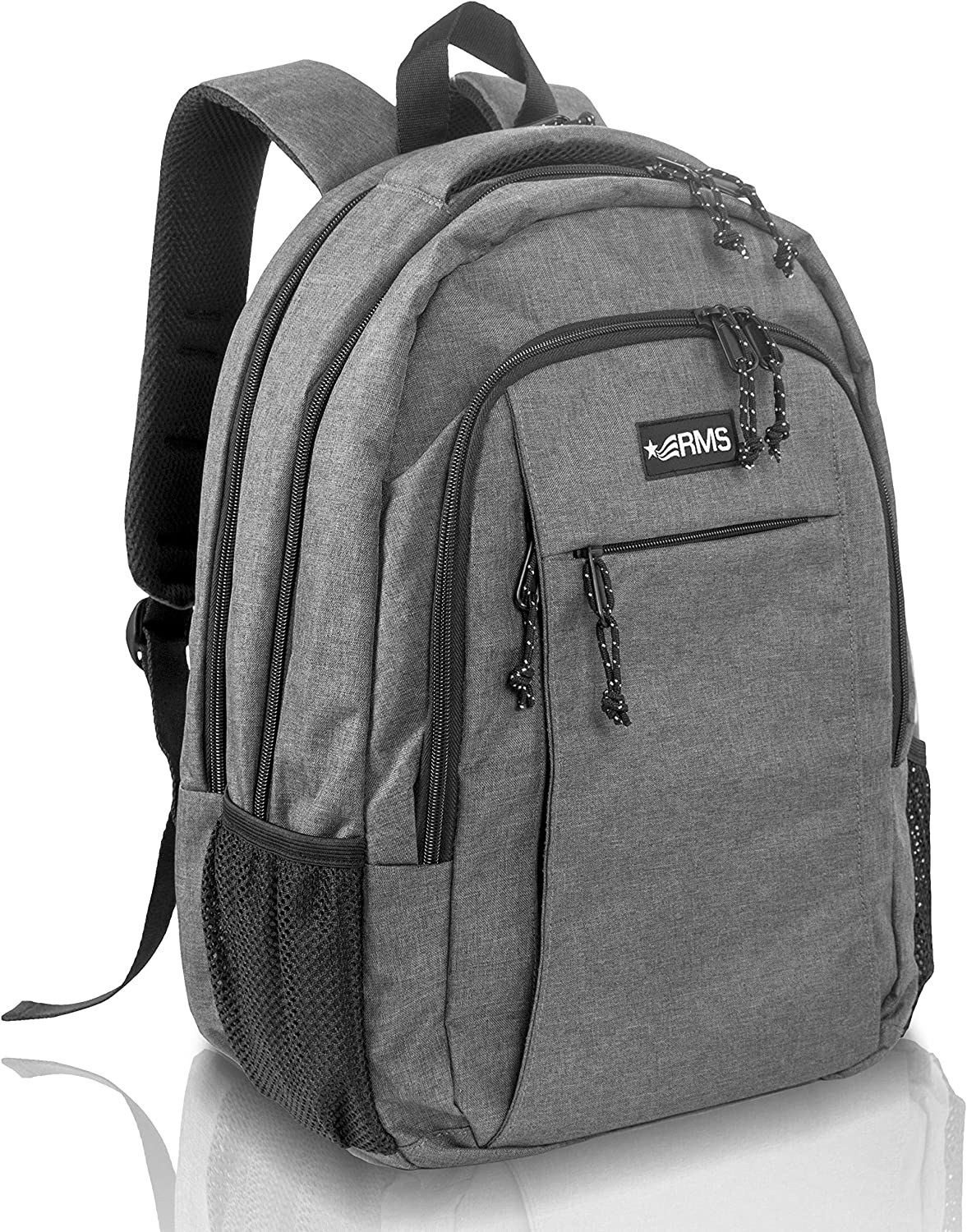 RMS Travel Backpack for School or Business – Anti Theft Laptop backpacks for Men, Women or Students – Fits Up to 15.6 inch Notebook Gray