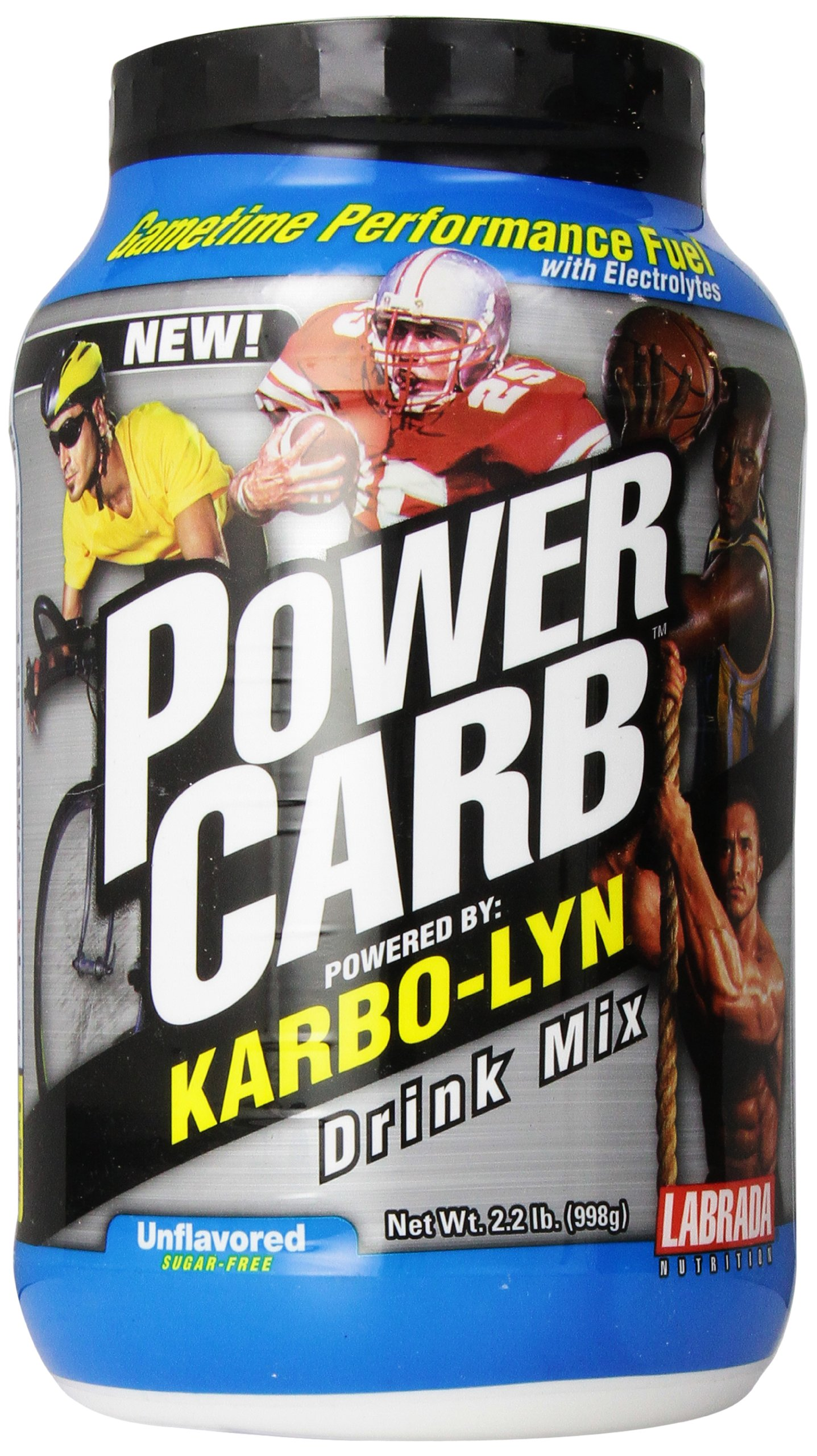 LABRADA NUTRITION Power Carb Gametime Karbolyn, Unflavored, 2.2 Pound