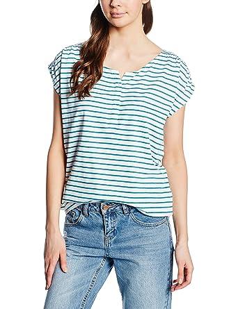 edc by ESPRIT Damen T Shirt 046cc1k010 Gestreift