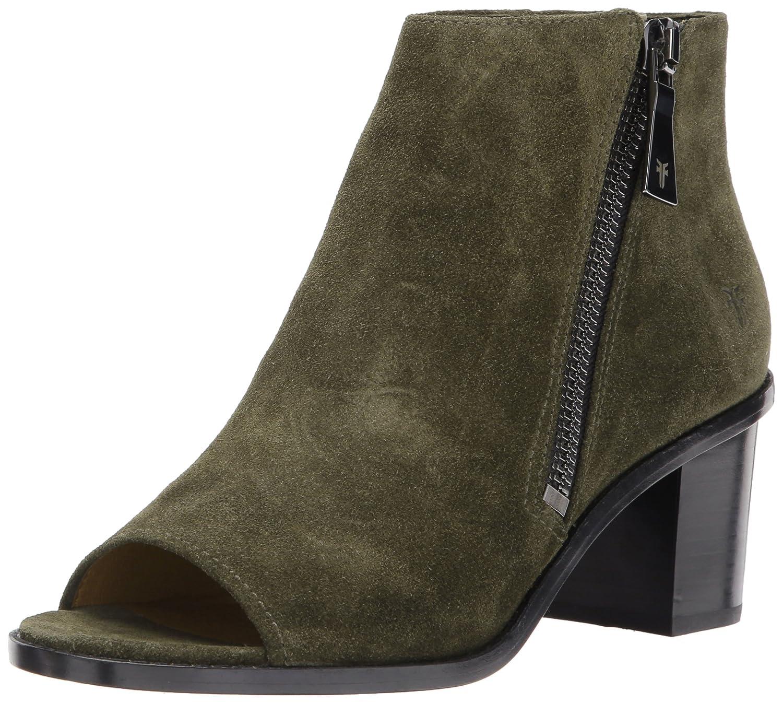 FRYE Women's Brielle Zip Peep Bootie Boot B01N6N9BK2 11 B(M) US|Forest Soft Oiled Suede