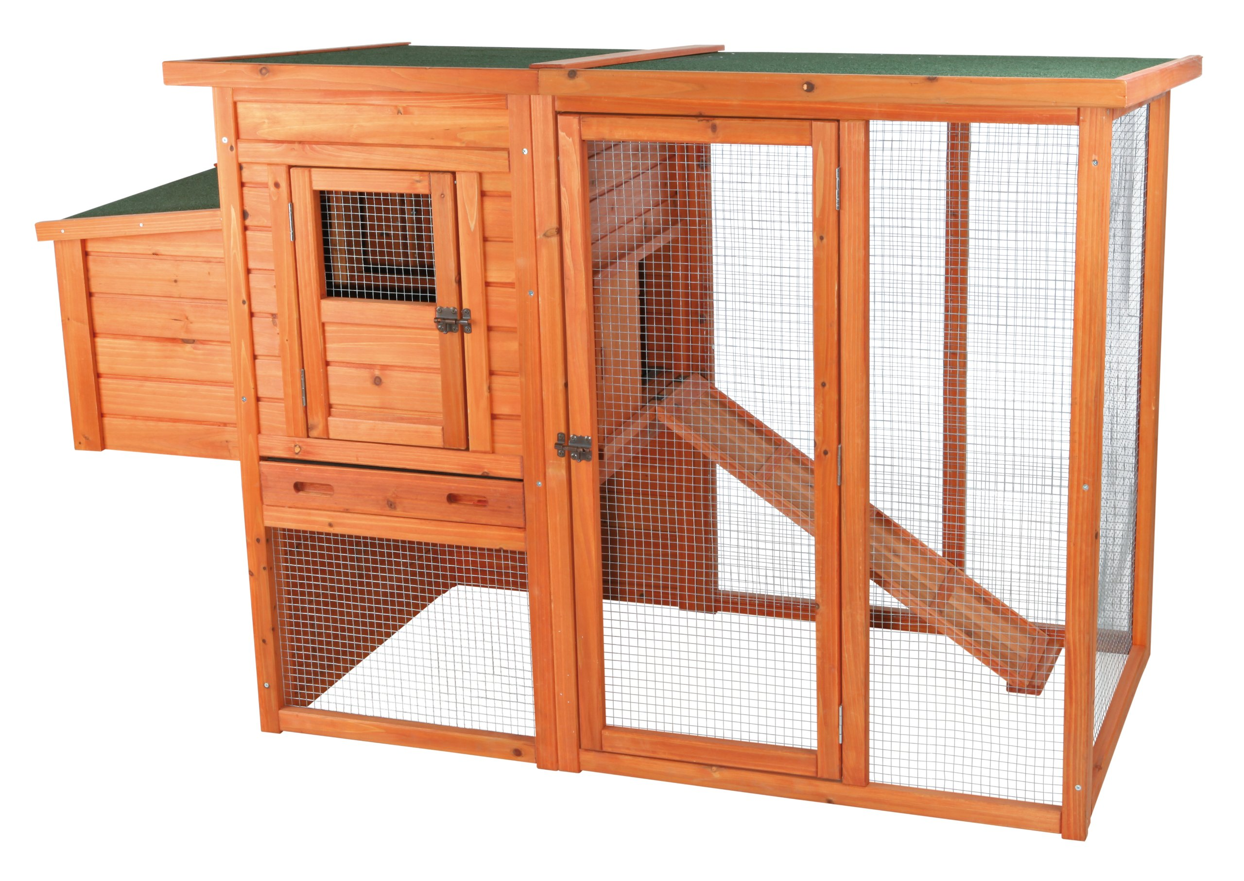 TRIXIE Pet Products Chicken Coop with Outdoor Run, 66.75 x 30.25 x 41.25 inches by Trixie