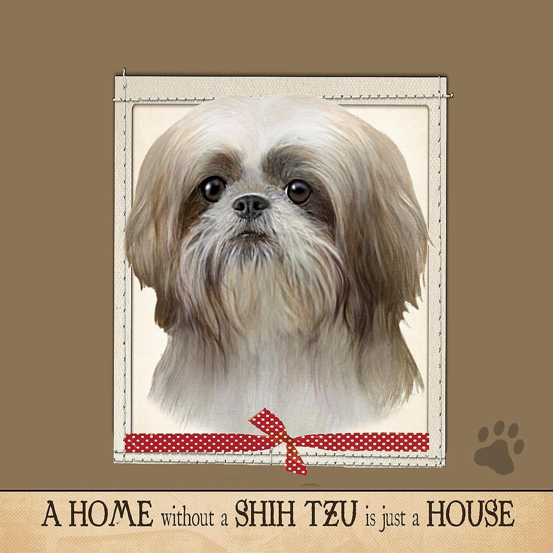 "Amazon.com: E&S Pets Ultra Soft 16""x 16"" Shih Tzu Gift Pillow: Pet Supplies"