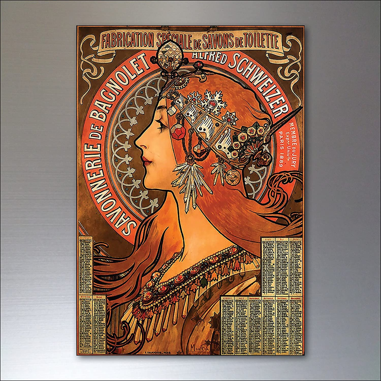 fridge magnets imán de refrigerador Conjunto de imanes de nevera Art nouveau de 8 No.1: Amazon.es: Handmade