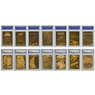 STAR WARS 1996 Original Genuine 23KT Gold Cards - Graded Gem-Mint 10 - SET OF 7: Everything Else
