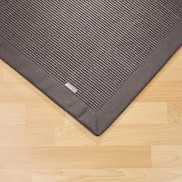 Sisal Teppich Bordürenteppich Naturfaser Läufer Flachgewebe Grau