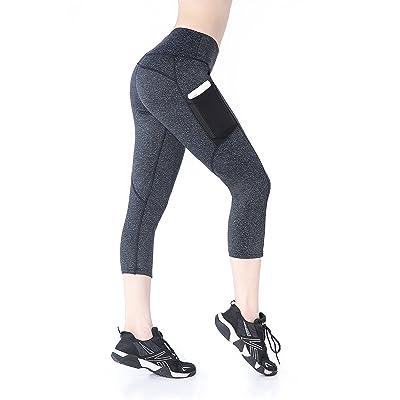 Annjoli Women's Workout Running Leggings Yoga Capris Pants Pocket
