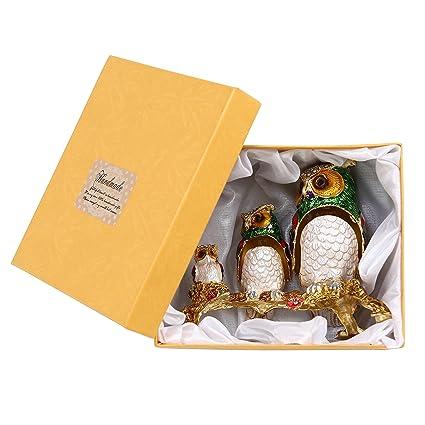 Búho tres familia joyería cajas de regalo Joyero anillo caja perfecto Regalos