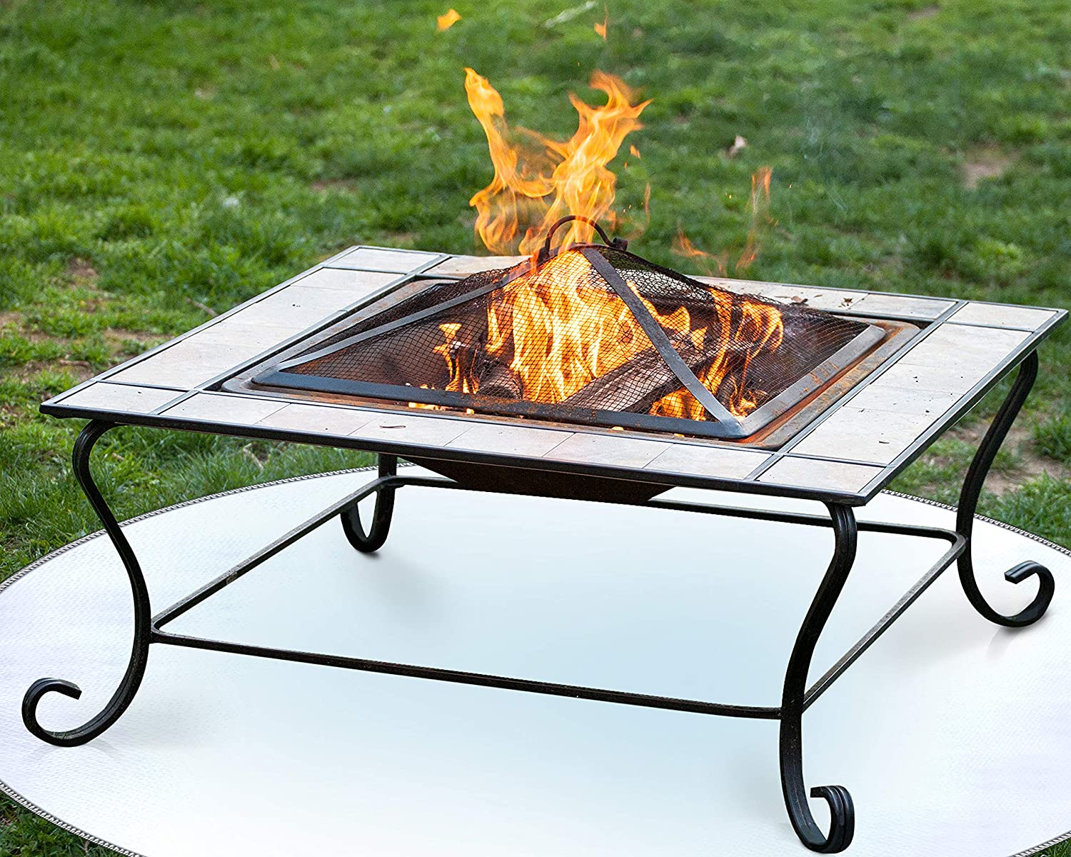 Grills Outdoor Cooking Outdoor Patio Bbq Smoker 24 36 Under Grill Mat Protector For Wood Burning Fire Pit And Grass From High Radiant Heat Charcoal Grill Firepad Deck Protector Gas Fire Pit