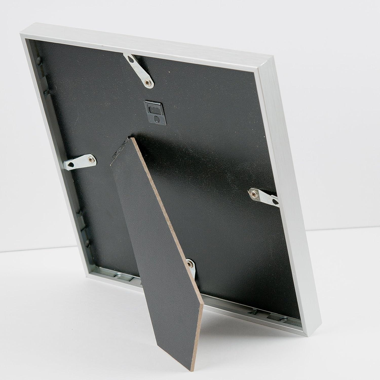 Amazon.de: Bilderrahmen Wechselrahmen 20x20 cm in Silber, kleiner ...