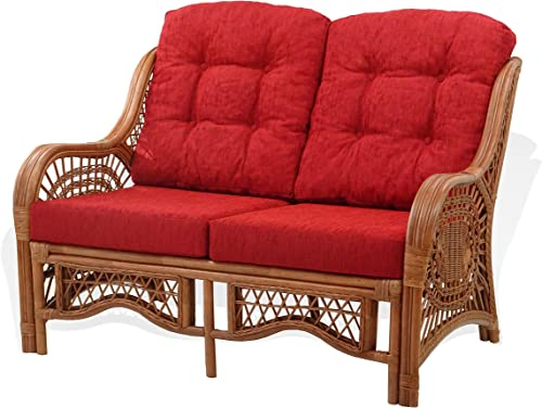 Lounge Malibu Loveseat Sofa ECO Natural Rattan Wicker Handmade Design