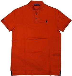 RALPH LAUREN Polo Purple Label Mens Logo Mesh Short Sleeve Shirt Italy  Orange XL