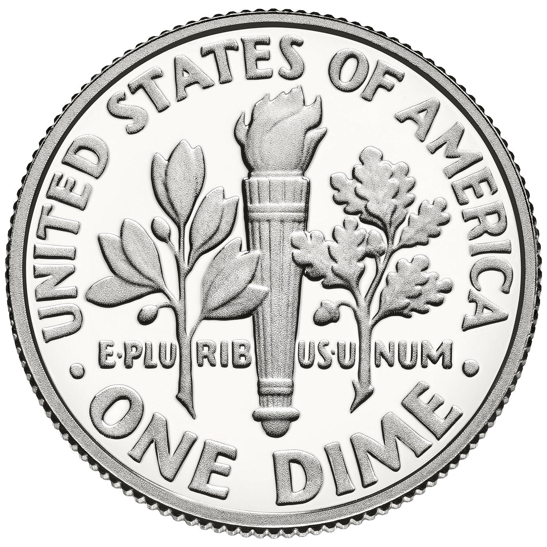 2010 11 2012 S 13 14 15 16 17 2018 2019 S Roosevelt Dime Clad Proof 10 Coin Set