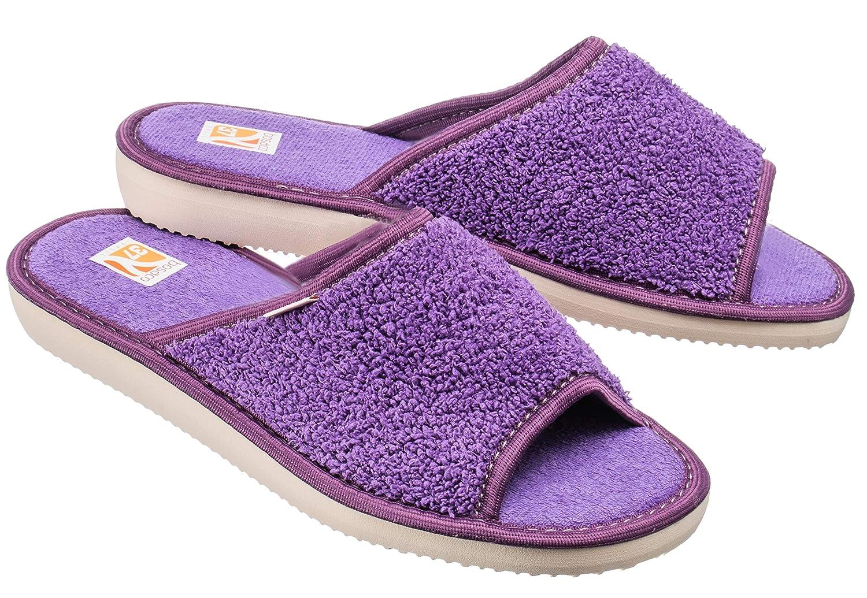 Bosaco Pantofole Ciabatte Donna Casa Pantofola Ciabatta Bath Viola 1