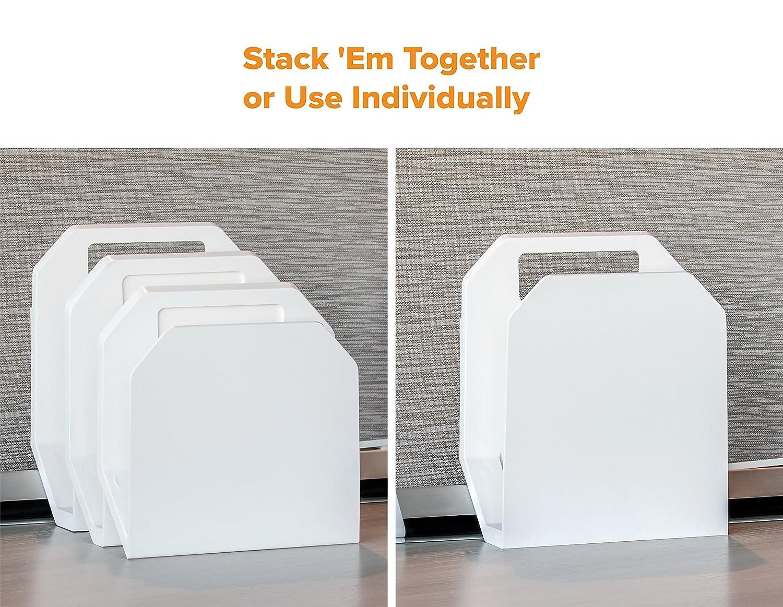 Includes Cubicle Hanger Bostitch Konnect 3-Piece File Organizer