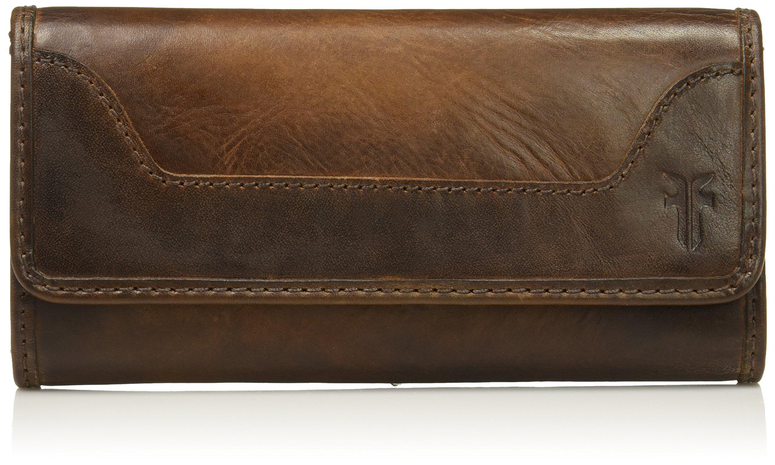 Melissa Continental Snap Wallet, Dark Brown
