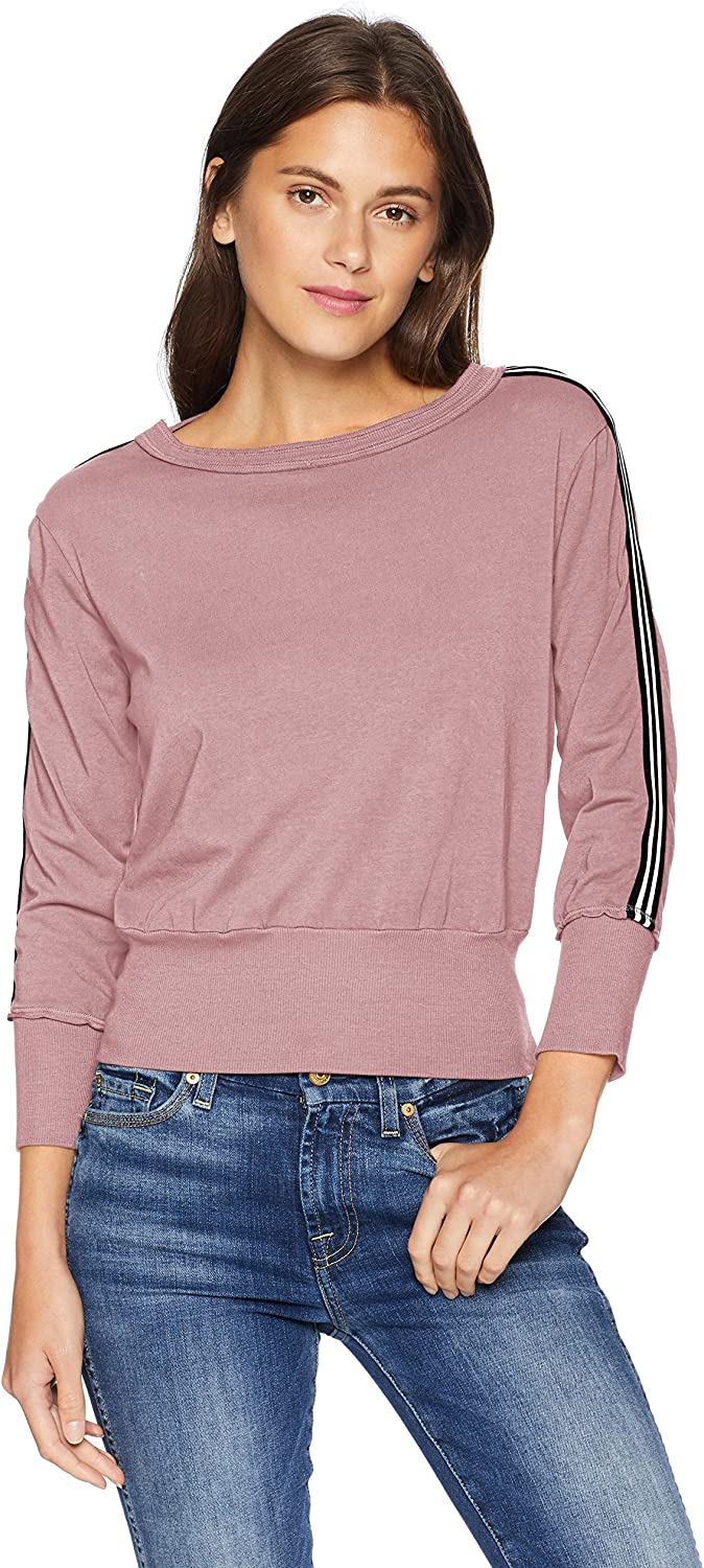 Michael Stars Womens Athletic Stripes Pullover