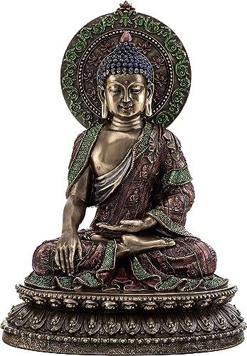 Top Collection Shakyamuni Buddha Statue- The Enlightened One Sculpture in Cold Cast Bronze-10.5-Inch Supreme Buddha Figurine