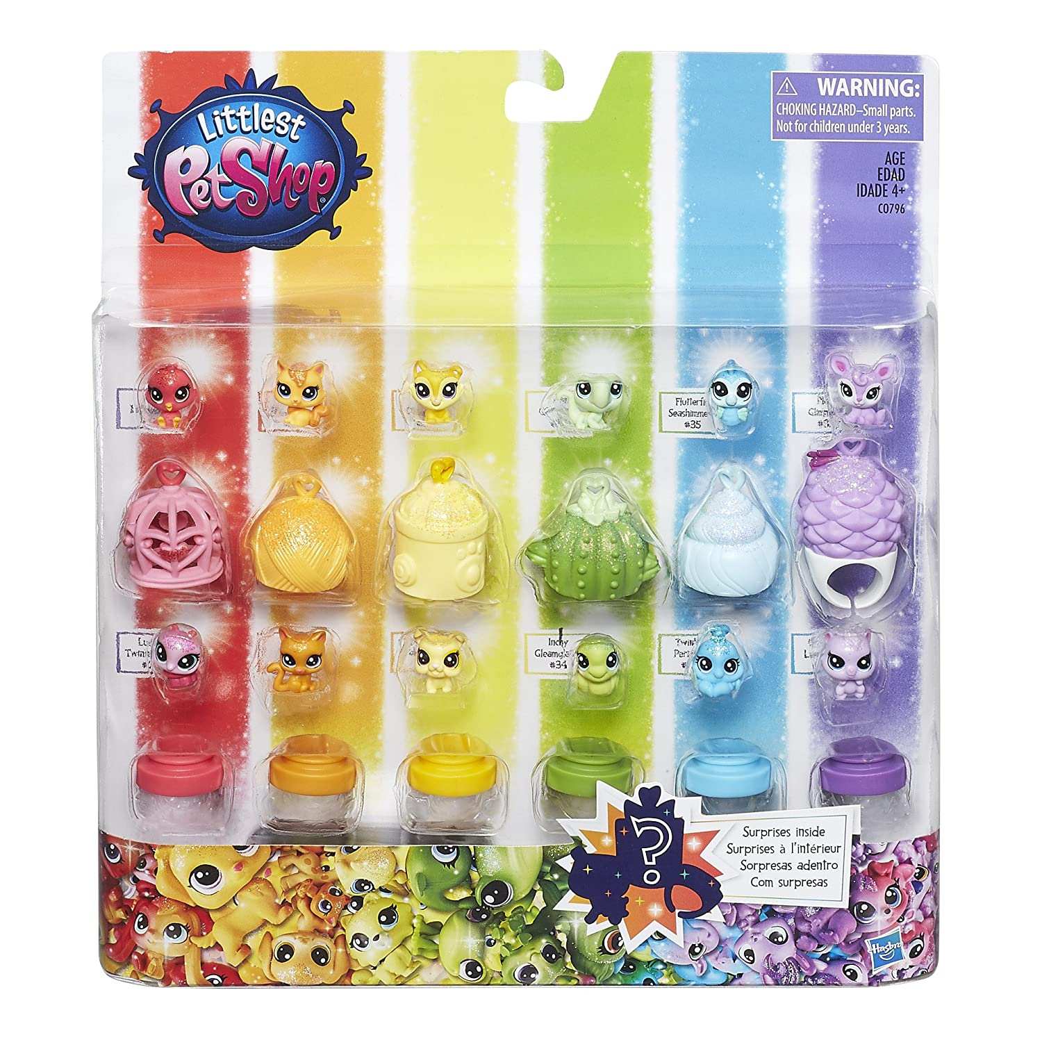 b3f8e07785d7c0 Amazon.com  Littlest Pet Shop Rainbow Friends  Toys   Games