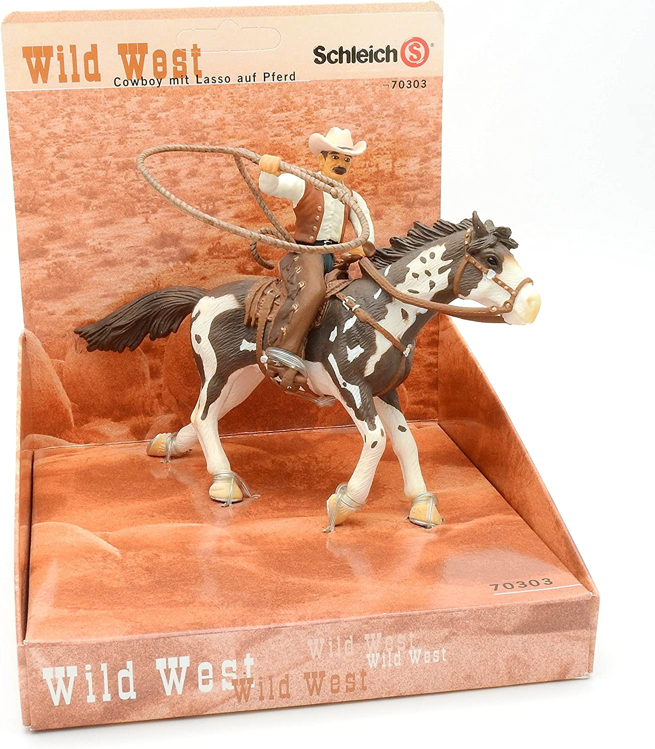 Schleich Farm World 41416 Saddle bronc riding mit Cowboy