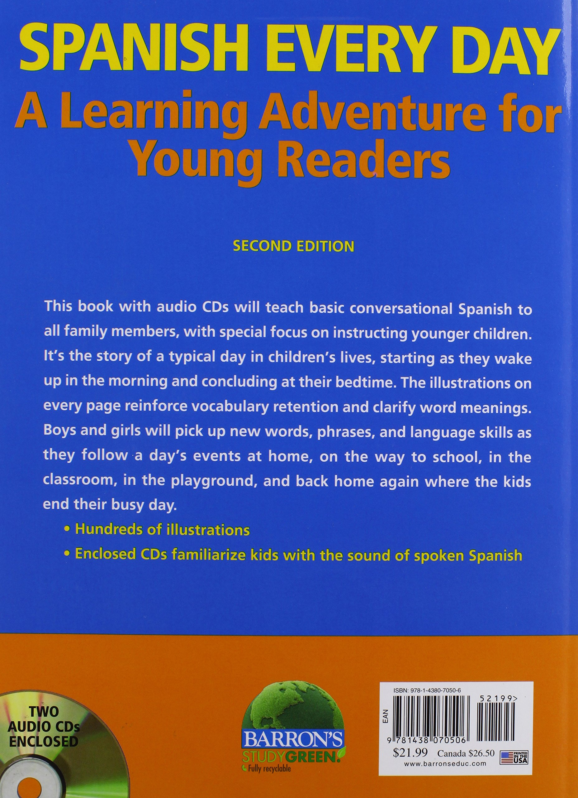 Spanish Every Day with Audio CDs: A Learning Adventure for Young Readers by Barron's Educational Series (Image #1)