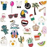 ZTWEDEN 25 Pieces Cute Enamel Lapel Pin Cartoon Brooch Pin Badges Brooch Pins Set for Clothing Jackets Backpacks DIY Crafts A