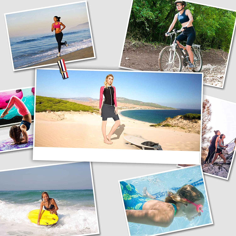HonourSex Women Swim Skirt with Leggings Modest Swimsuits Plus Size Swim Bottoms Skorts UPF50