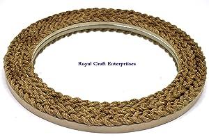 Royal Craft Enterprises 17.5 X 17.5 inch Rope Design Wall Mounted Round Decor Mirror (M007)