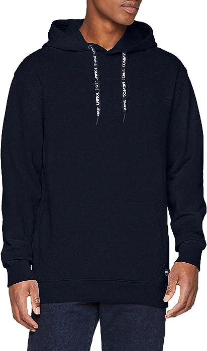 4e700e37 Tommy Jeans Men's TJM Contemporary Hoodie Sweatshirt, Blue (Black ...
