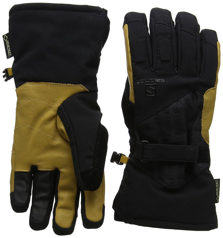 c93619091ae5b Amazon.com: Salomon Men's Propeller GTX Gloves, Black/Natural, Small:  Clothing