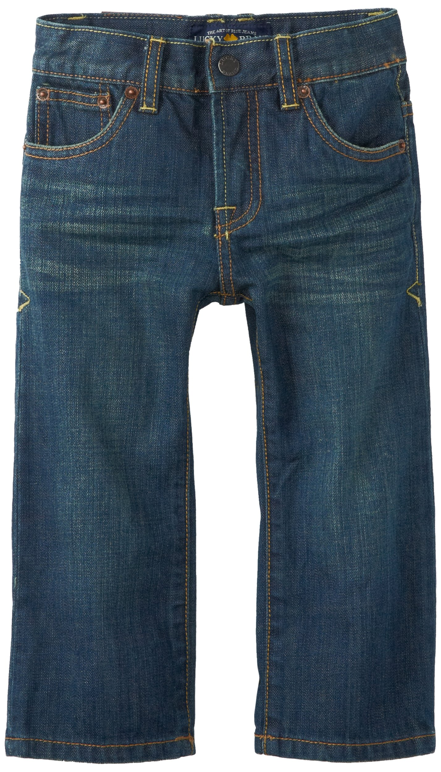 Lucky Brand Little Boys' Toddler Sherman Billy Straight Fit Jeans, Blue/Black Tint, 2T