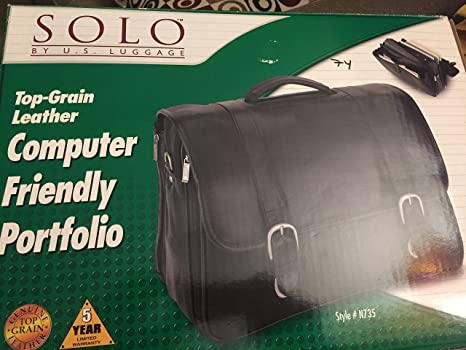 Top Grain Leather Computer Friendly Portfolio Solo Style # N735