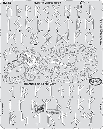 "Vikings Viking Runes Norse Runic Alphabet 11/"" x 8.5/"" Stencil FAST FREE SHIPPING"