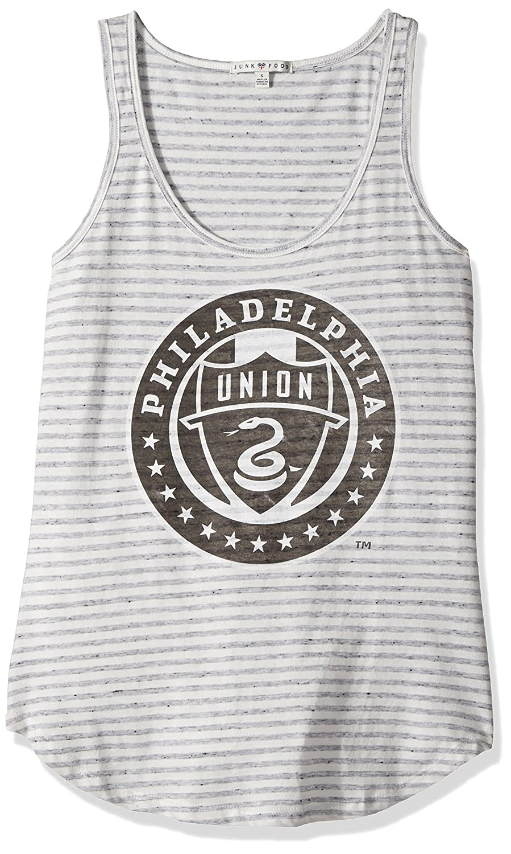 ジャンクフードレディースタンク B072QS2LB4 Small Sun/Grey Philadelphia Union Sun/Grey Small