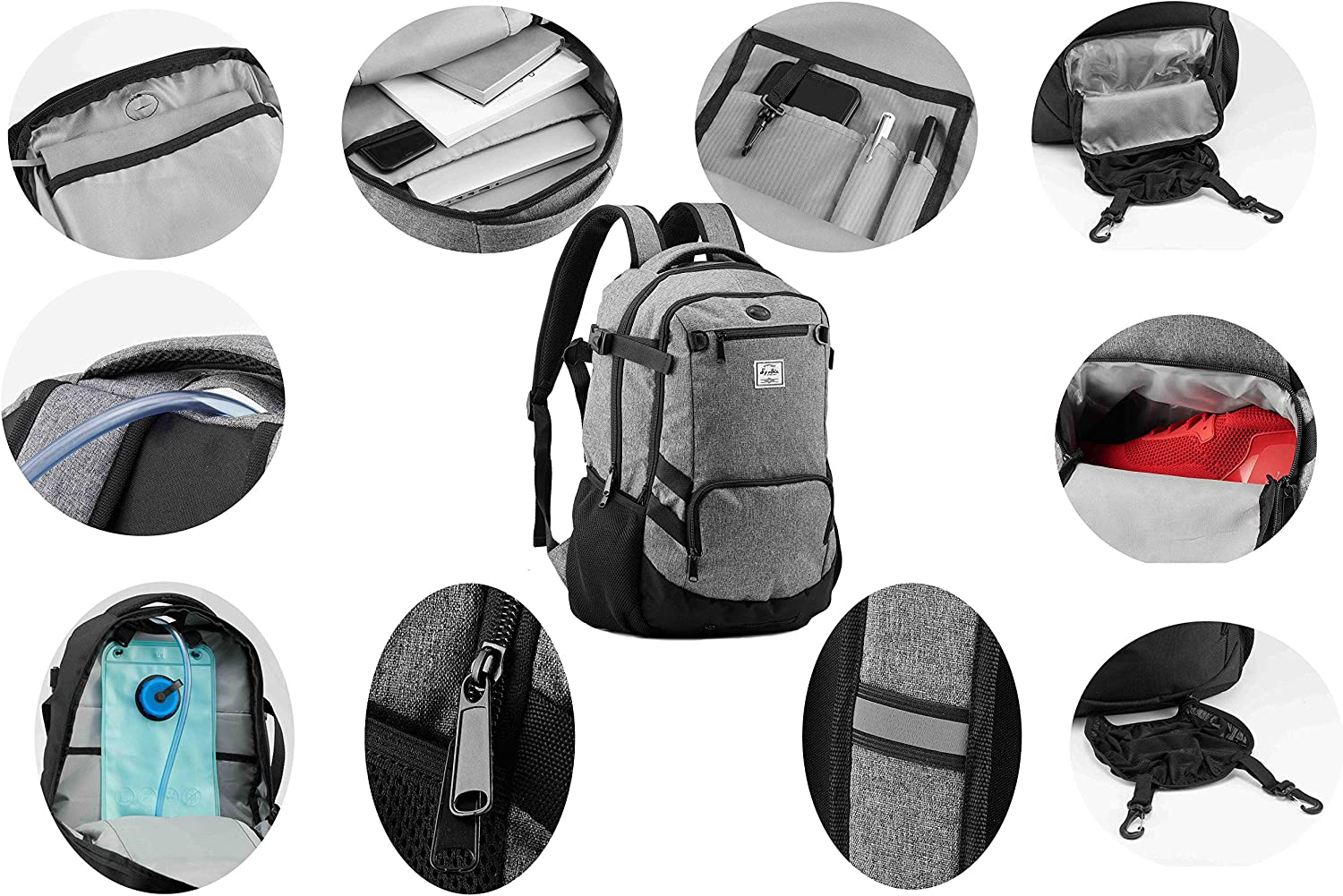 Basketball Backpack for Soccer Volleyball Football with Shoes and Ball Compartment A Gift for Men Women Boys Girls Students Baseball Bag