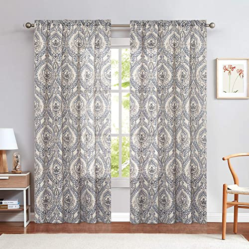 Damask Printed Curtains