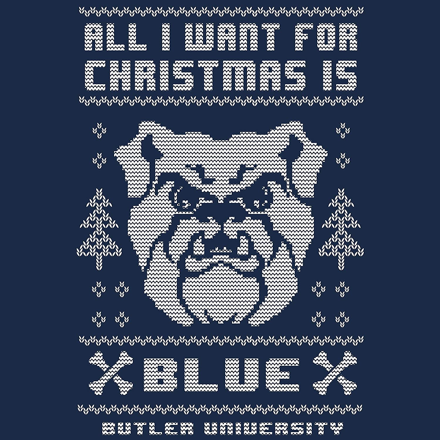 College Holiday Sweater Official Collegiate Apparel Butler Bulldogs Ugly Christmas Sweatshirt