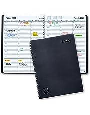 Agenda 2020 con Vista Semanal – Planificador 2020 Semana Vista – Diario Espiral que Inspira Productividad - Tapa Blanda, Intervalos de 30 minutos - Calendario Semanal A4 – 21 x 28cm, en Español