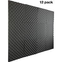 """12 Pack- Acoustic Panels Studio Foam Egg Crate 1"""" X 12"""" X 12"""""""