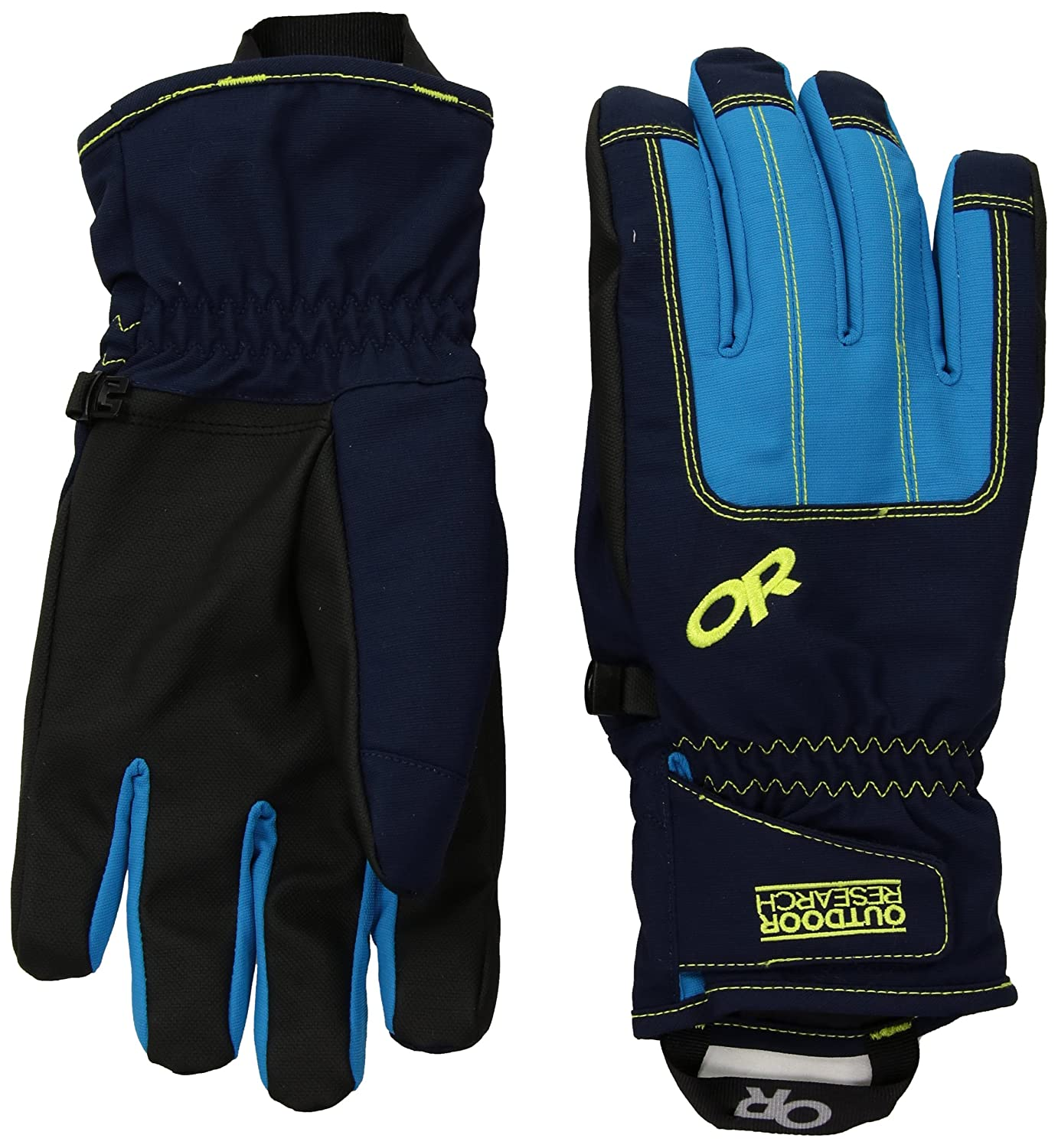 Outdoor Research Riot Gloves Men& 039;s Night Lemongrass Tahoe L