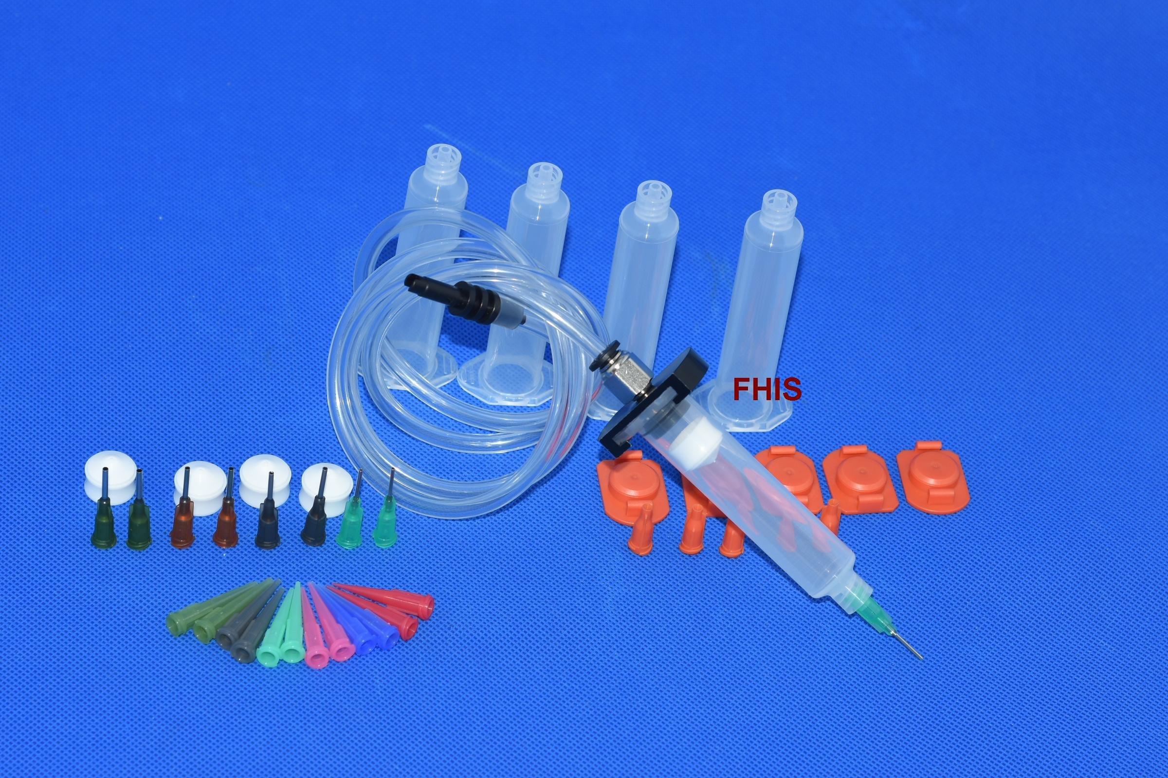 30CC aluminum adapter Liquid Dispenser Solder Paste Adhesive Glue Cone & dispensing cones Package