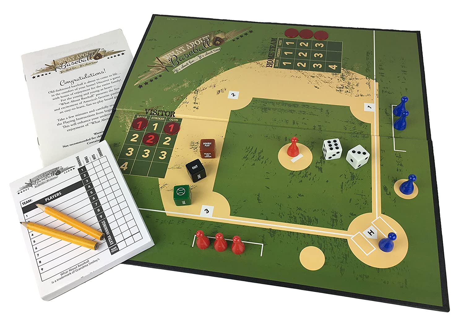 amazon com what about baseball board game toys u0026 games