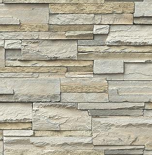 NuWallpaper NU2675 Slate Peel U0026 Stick Wallpaper Neutral
