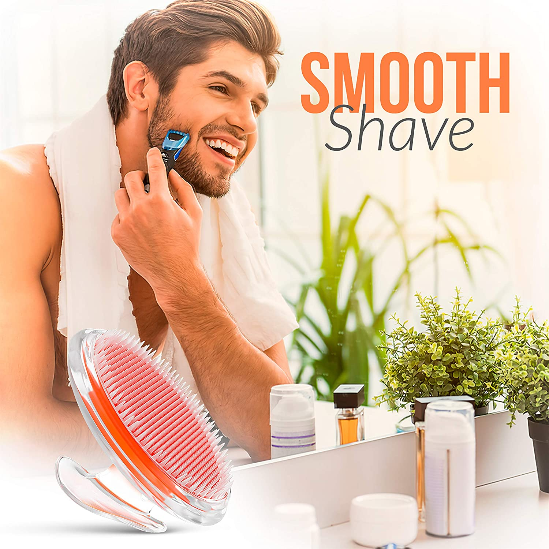 Exfoliating Brush, Body Brush, Ingrown Hair and Razor Bump Treatment - Eliminate Shaving Irritation for Face, Armpit, Legs, Neck, Bikini Line - Silky Smooth Skin Solution for Men and Women by Dylonic : Beauty