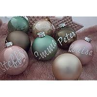 Weihnachtsbaumkugel in vielen Farben matt oder glänzend Baumkugel Weihnachtskugel Christbaumkugel mit Name personalisiert