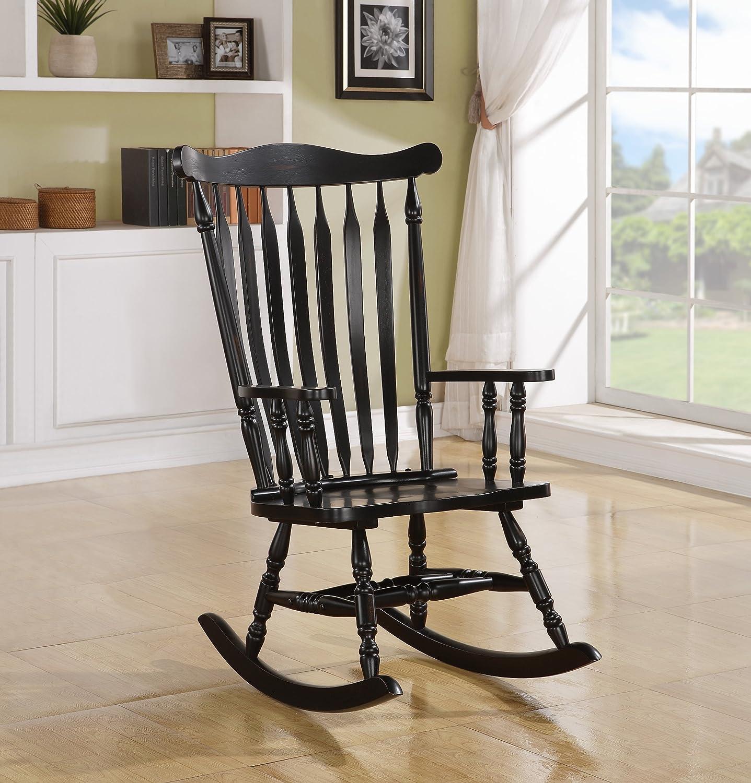 Black Oak Traditional Rocking Chair Monarch