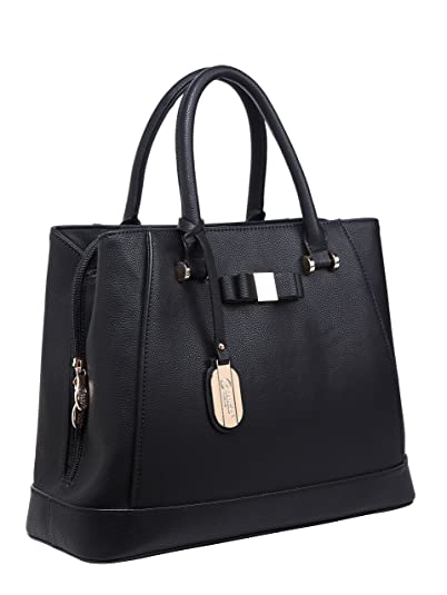 Amazon.com: Authentic BRANGIO (Italy) Tote-Style Handbag w/Bow Design and Adjustable Shoulder Strap: TN8768-BK: Shoes